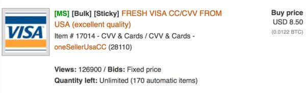 Credit Card Dark Web
